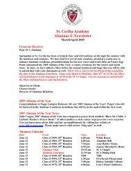 St. Cecilia Academy Alumnae E-Newsletter