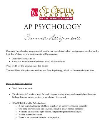 Psychology assignments