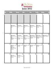 June 2012 - St. Cecilia Academy