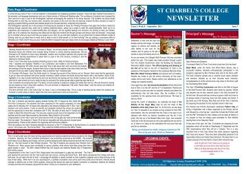 PDF Newsletter (Issue 7), Term 3, Week 8 - St Charbel's College