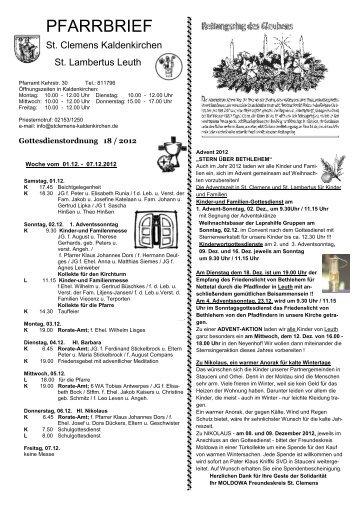 16.12. - St. Clemens Kaldenkirchen