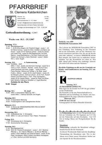 17.03. - 01.04. - St. Clemens Kaldenkirchen