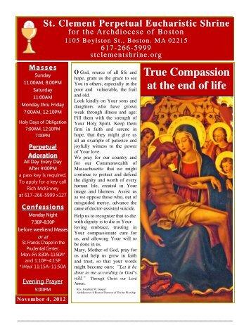 November 4, 2012 - St. Clement Eucharistic Shrine