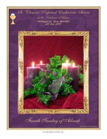 December 18, 2011 - St. Clement Eucharistic Shrine
