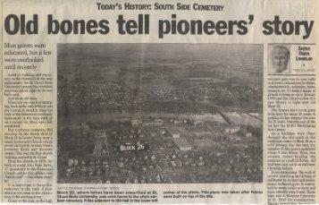 Old bones tell pioneers' story - St. Cloud State University