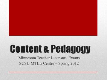 Content & Pedagogy - St. Cloud State University