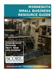 minnesota small business resource guide - St. Cloud State University