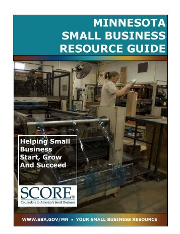 minnesota small business resource guide - St. Cloud State University