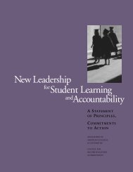 New Leadership for Student Learning an Accountability