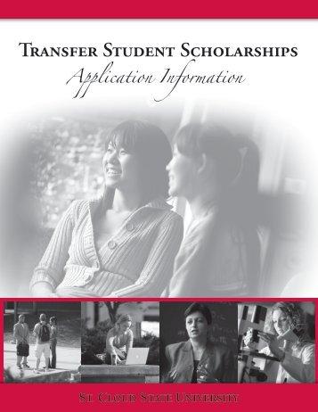Transfer Scholarship (pdf) - St. Cloud State University