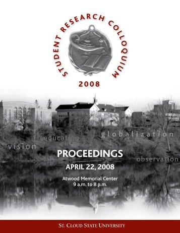 2008 Proceedings - St. Cloud State University