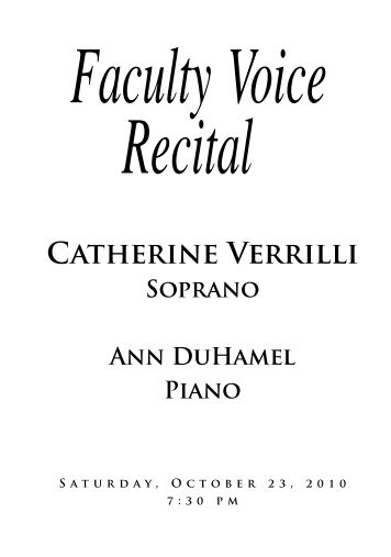 Verrilli Voice Recital - St. Cloud State University