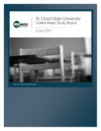 Exhibit U - SCSU Chilled Water Study Report - St. Cloud State ...