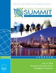 June 1-4, 2008 Pennsylvania Convention Center ... - STC SIGs
