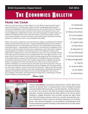 THE ECONOMICS BULLETIN - St. Cloud State University