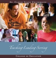 School of Education Viewbook - St. Cloud State University