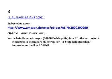 zusaetzliche Suche Fachsaetze Technisches Woerterbuch EDV kfz-Elektronik Mechatronik Schaltgeraete