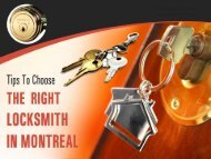 Tips to Choose Locksmith in Montreal