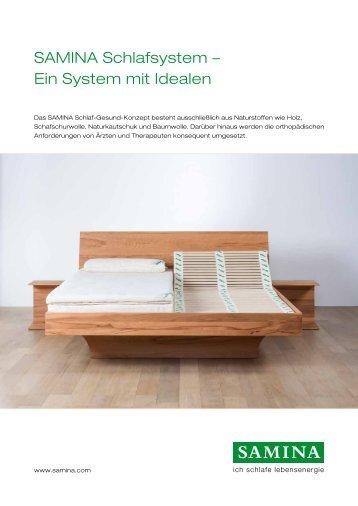 SAMINA Schlafsystem – Ein System mit Idealen