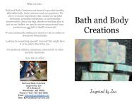 Bath and Body Creations