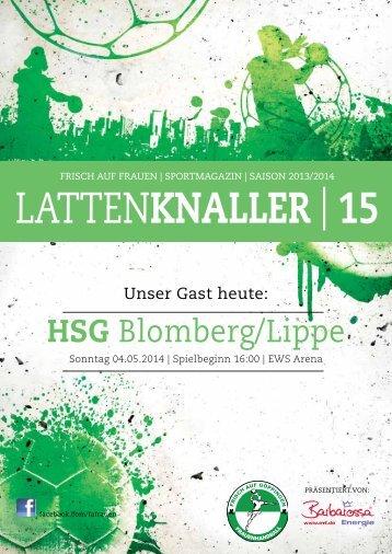 LATTENKNALLER|15 - Gast: HSG Blomberg/Lippe - 04.05.2014 - Saison 2013/2014