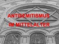 ANTISEMITISMUS IM MITTELALTER