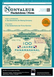 NONVALEUR Nachrichten   News – Ausgabe 6-7/2014 – 100 Jahre Panamakanal