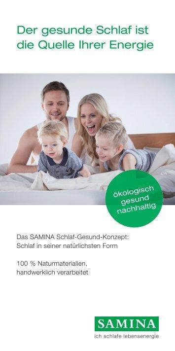 SAMINA Flyer - einfach gesund schlafen