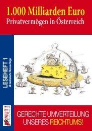 Leseheft 1 Armut und Reichtum in Österreich 2006