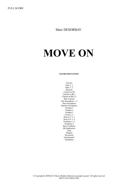 MOVE ON