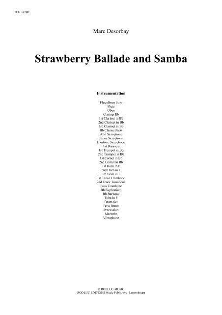 Strawberry Ballade and Samba