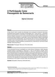 A Participação Como Pressuposto da Democracia