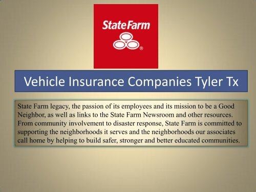 Vehicle Insurance Companies Tyler Tx