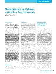 Medieneinsatz im Rahmen stationärer ... - Christiane Eichenberg