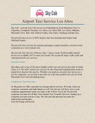 Airport Taxi Service Los Altos