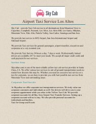 Airport Taxi Service Los Altos