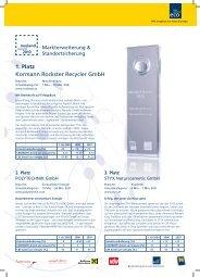 1. Platz Kormann Rockster Recycler GmbH - Ecoplus International ...