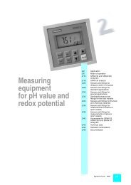 Measuring equipment for pH value and redox potential
