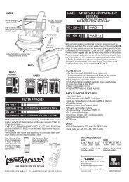 maze — adjustable c mpartment suitcase Filter P uches - Steadicam
