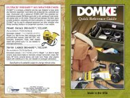 Domke Quick Reference Guide - Steadicam