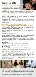 Informationen über das Workshop-Programm 2012 - Steadynews
