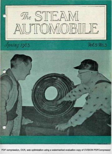 Vol. 5, No. 3, 1963, 16pp - Steam Automobile Club of America