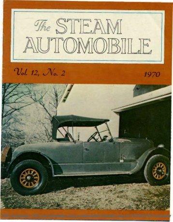 Vol. 12, No. 2, 1970, 20pp - Steam Automobile Club of America