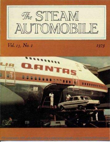 Vol. 15, No. 1, 1973, 20pp - Steam Automobile Club of America