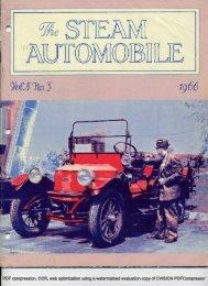 Vol. 8, No. 3, 1966, 36pp - Steam Automobile Club of America