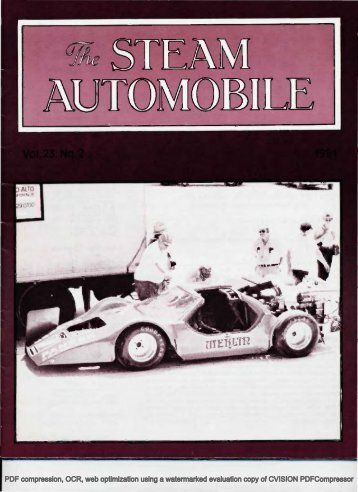 Vol. 23, No. 2, 1981, 40pp - Steam Automobile Club of America