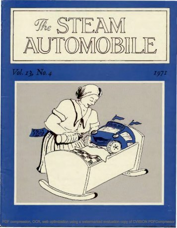 Vol. 13, No. 4, 1971, 20pp - Steam Automobile Club of America