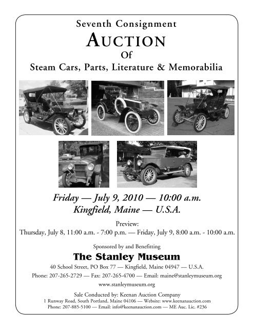 Auction The Steam Car Club Of Great Britain