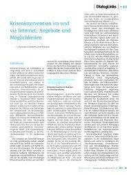 Krisenintervention im und via Internet: Angebote und Möglichkeiten