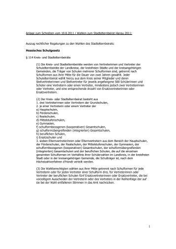 Stadtelternbeirat Anlage Anschreiben Schulen Wahl 2011